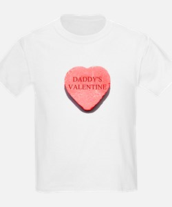 Red Candy Heart - Daddy's Val Kids T-Shirt