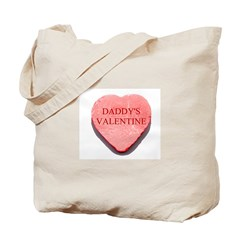 Red Candy Heart - Daddy's Val Tote Bag