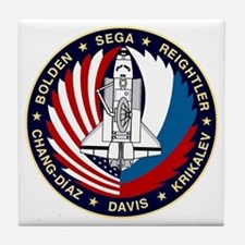 STS-60 Discovery Tile Coaster