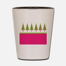 Holiday Trees - Pink Lime Shot Glass