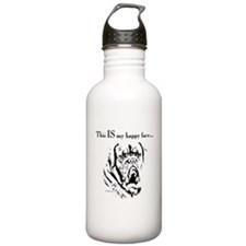 Dogue de Bordeaux Happy Face Water Bottle