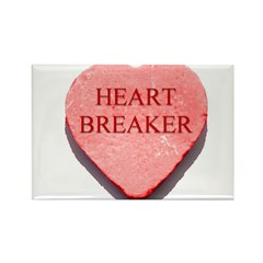 Valentine Candy Heart - Heart Rectangle Magnet
