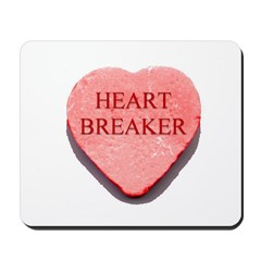 Valentine Candy Heart - Heart Mousepad