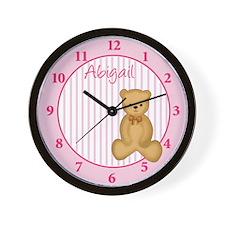 Dream Teddy Wall Clock - Abigail
