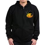 Pumpkins with Black Cat Zip Hoodie