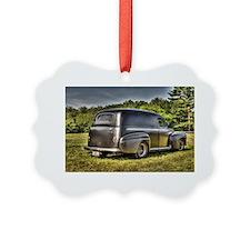 Hot rod delivery van Ornament