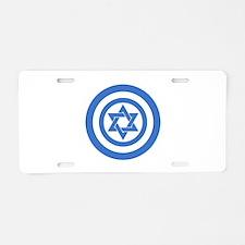 Captain Israel Aluminum License Plate