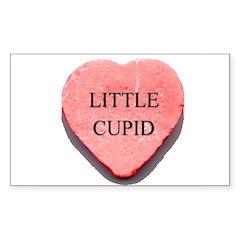 Valentine Candy Heart - Littl Sticker (Rectangular