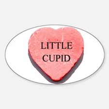Valentine Candy Heart - Littl Oval Decal