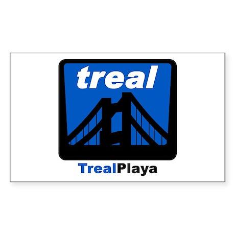 Treal Playa Rectangle Sticker