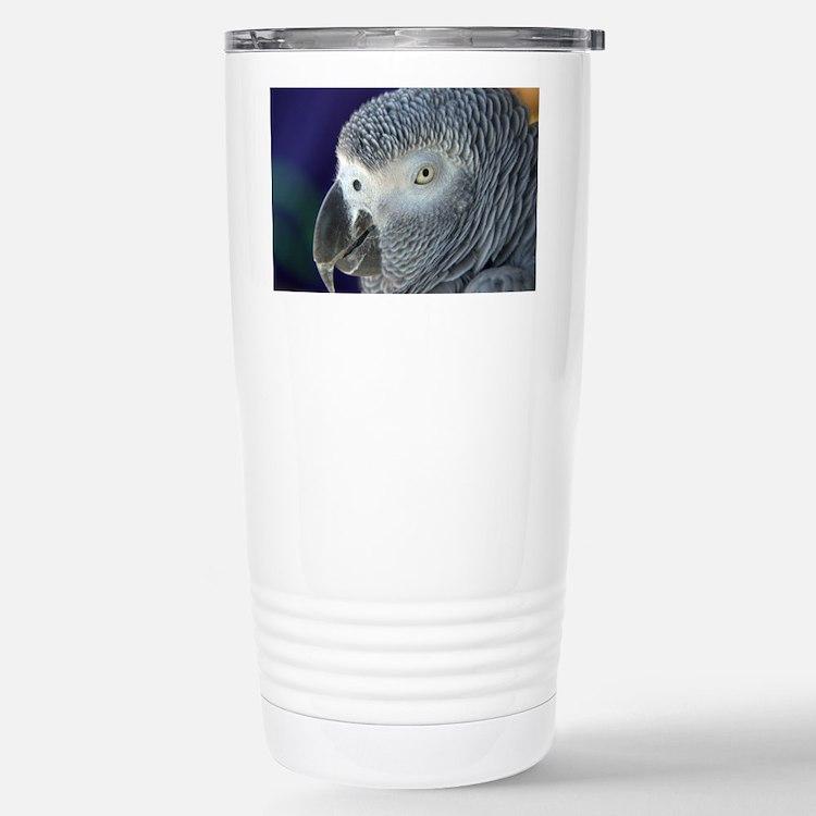 African Gray Travel Mug