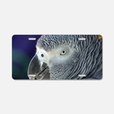 African Gray Aluminum License Plate
