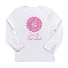 Baby's 1st Hanukkah Girls Long Sleeve Infant T-Shi
