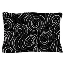 Black and White Swirls Pillow Case