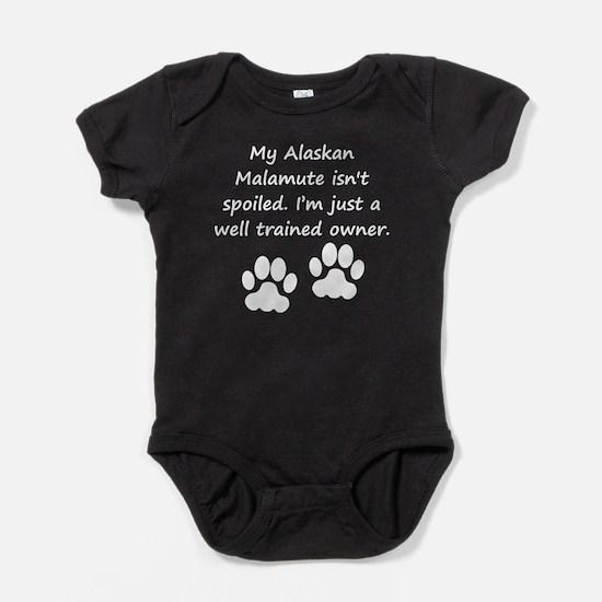 Well Trained Alaskan Malamute Owner Baby Bodysuit