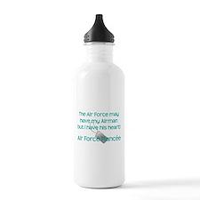 Air Force Fiancee Heart Water Bottle