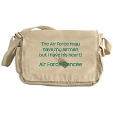 Air Force Fiancee Heart Messenger Bag