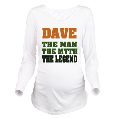 Dave The Legend Long Sleeve Maternity T-Shirt