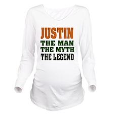 Justin The Legend Long Sleeve Maternity T-Shirt