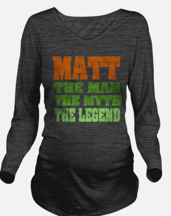 Paul The Legend Long Sleeve Maternity T-Shirt