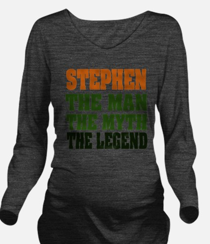 Stephen The Legend Long Sleeve Maternity T-Shirt