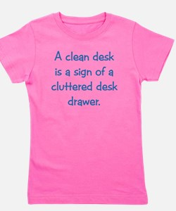 Clean Desk Girl's Tee