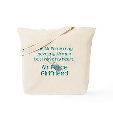 Air Force Girlfriend Heart Tote Bag
