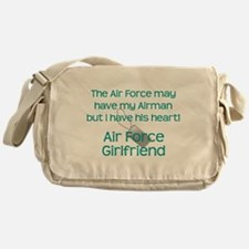 Air Force Girlfriend Heart Messenger Bag