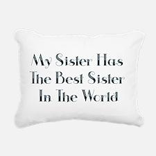 Best Sister in the World Rectangular Canvas Pillow