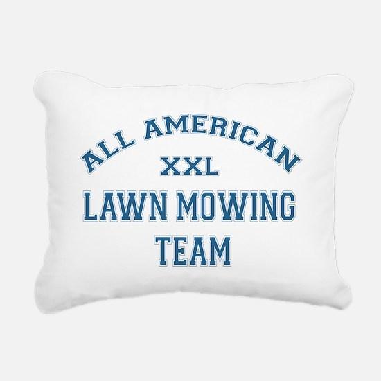 AA Lawn Mowing Team Rectangular Canvas Pillow