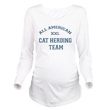 AA Cat Herding Team Long Sleeve Maternity T-Shirt