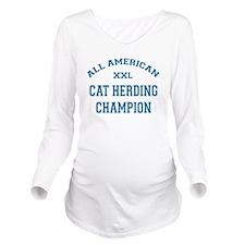 AA Cat Herding Champion Long Sleeve Maternity T-Sh