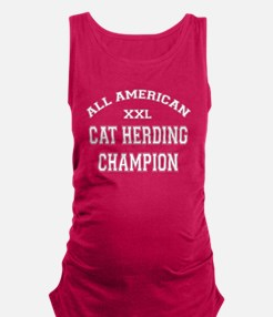 AA Cat Herding Champion Maternity Tank Top