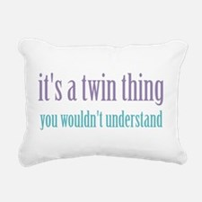Twin Thing 2 Rectangular Canvas Pillow