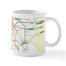 Paris Metro Map Small Mug