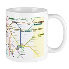 Paris Metro Map Small Mugs