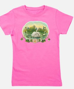 Swimming Swan Girl's Tee
