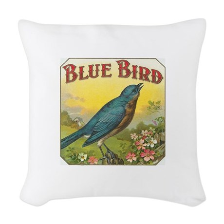 Blue Bird Throw Pillows : Blue Bird Woven Throw Pillow by fullmoonemp