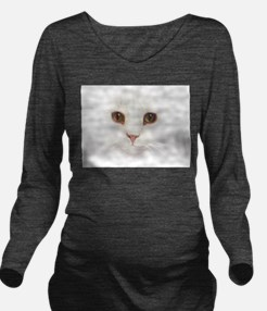 Cat Face Long Sleeve Maternity T-Shirt