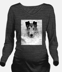 Smooth Collie Long Sleeve Maternity T-Shirt