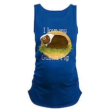 I Love my Guinea Pig Maternity Tank Top