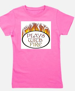 Plays with Fire Girl's Tee
