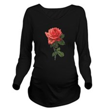 Victorian Garden Rose Long Sleeve Maternity T-Shir