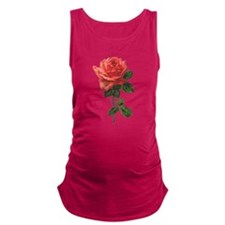 Victorian Garden Rose Maternity Tank Top