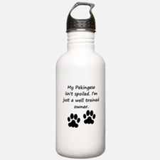 Well Trained Pekingese Owner Water Bottle