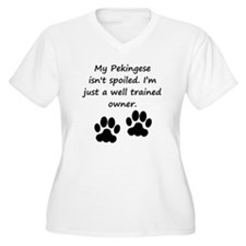 Well Trained Pekingese Owner Plus Size T-Shirt