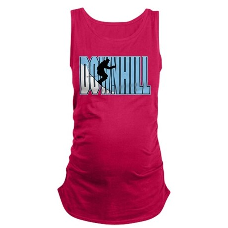 Downhill Skiing Maternity Tank Top