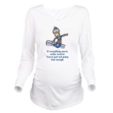 Not Going Fast Enough Long Sleeve Maternity T-Shir
