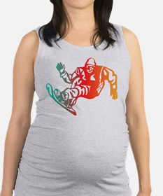 Snow Boarding Maternity Tank Top