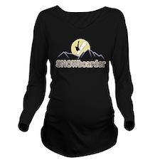 SNOWboarder Long Sleeve Maternity T-Shirt